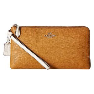 Coach Bags - Coach Colorblock Double Zip Wallet